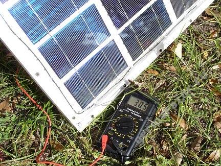 Тестирование генерируемого тока солнечной батареи