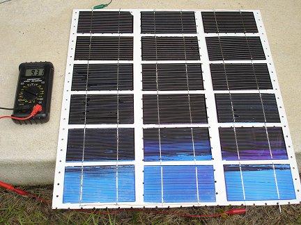 Тестирование солнечной батареи