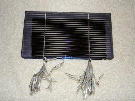Блок солнечных элементов с воске