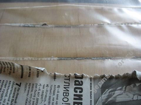 Швы, сделанные через газету